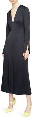 Jason Wu Collection Satin Crepe Midi Dress