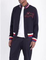 Gucci Panther-appliqué wool-blend jacket