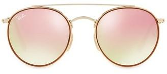 Ray-Ban RB3647 51MM Mirrored Round Aviator Sunglasses