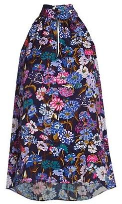 Tanya Taylor Kendall Highneck Sleeveless Printed Top