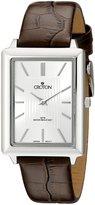 Croton Men's CN307503SSSL Heritage Analog Display Japanese Quartz Brown Watch