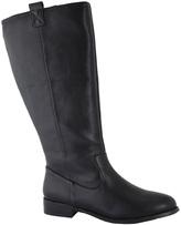 Black Pebble Tuscon Wide-Calf Boot