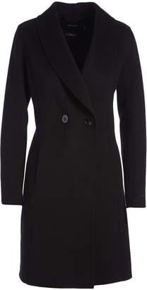 T Tahari Women's Car Coats BLACK - Black Handmade Double Face Wool-Blend Caleigh Coat - Women