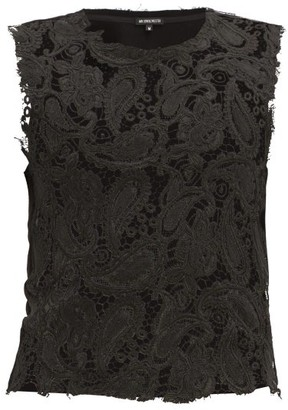 Ann Demeulemeester Corded-lace Cotton-blend Tank Top - Black