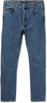 Balenciaga Slim-Fit Cropped Stonewashed Denim Jeans
