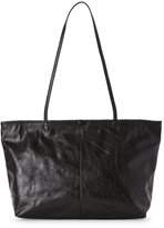 Latico Leathers Black Carmen Scalloped East/West Tote