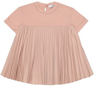 BRUNELLO CUCINELLI KIDS Exclusive to Mytheresa a Pleated cotton T-shirt