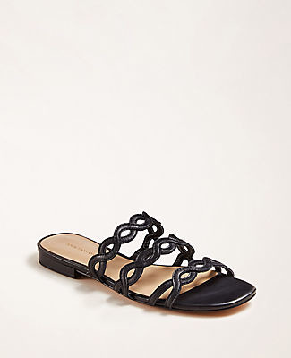 Ann Taylor Minny Wavy Leather Sandals