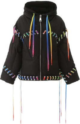 KHRISJOY Lace Up Padded Jacket