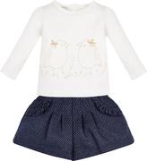 Monsoon Baby Sabina Bird Lace Top and Short Set