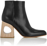 Marni Women's Cutout-Heel Ankle Boots-BLACK