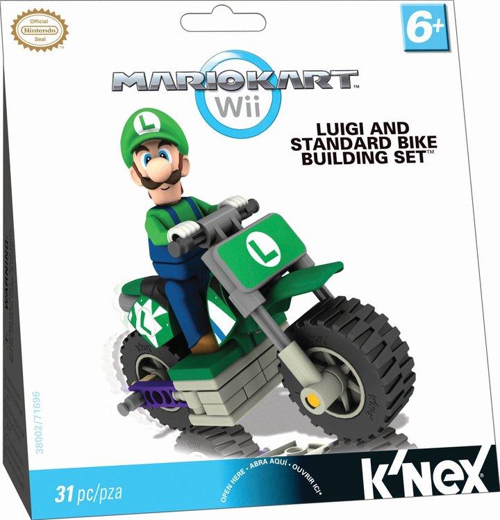 Nintendo K'NEX Luigi and Standard Bike Building Set (31 pc)