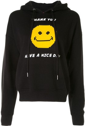 Mostly Heard Rarely Seen 8-Bit Slogan Embroidered Hoodie