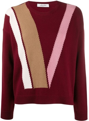 Valentino Intarsia Virgin Wool Jumper