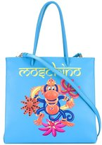 Moschino jewelled monkey tote