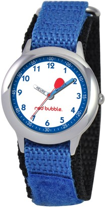 Red Bubble w002072SchoolBoys 'WatchQuartzWhite dial Nylon Strap Blue