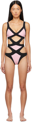 Agent Provocateur Pink & Black Mazzy One-Piece Swimsuit