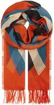 Dries Van Noten Multi-tonal silk and modal-blend scarf