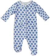 Absorba Girls' Cotton Dotted Footie