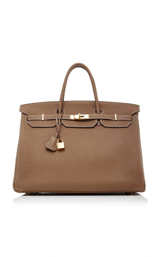 Hermes Heritage Auctions Special Collections 40cm Etoupe Togo Leather Birkin
