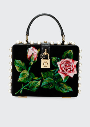 Dolce & Gabbana Tropical Rose Mini Top-Handle Bag