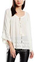 Deby Debo Women's Plain 3/4 Sleeves Blouse - Off-White -