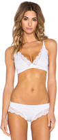 Only Hearts So Fine with Lace Triangle Racer Back Bralette in White