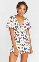 MUMU Sabrina Romper ~ Butterflies in my Eyes Crinkle Stretch