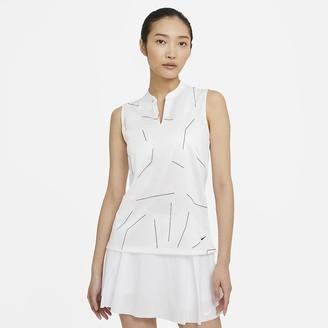 Nike Women's Sleeveless Printed Golf Polo Breathe
