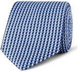 Dunhill 7.5cm Mulberry Silk-jacquard Tie - Blue