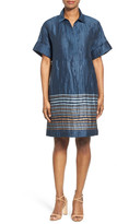 Lafayette 148 New York Mitra Border Stripe Shirtdress
