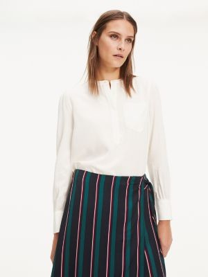 Tommy Hilfiger Essential Popover Relaxed Fit Blouse
