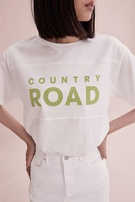 Country Road Verified Australian Cotton Modern Logo T-Shirt