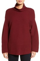 Vince Camuto Ribbed Funnel Neck Sweater (Regular & Petite)