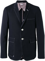 Thom Browne contrast blazer - men - Cupro/Wool - 1