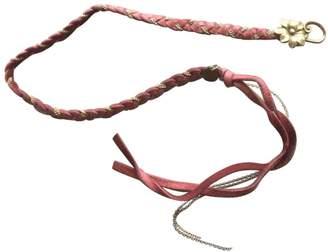 Maje Pink Leather Bracelets