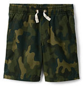 Lands' End Boys Pull On Camo Short-Black Print