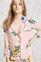 Forever 21 Floral Pajama Shirt