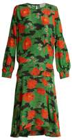 Preen by Thornton Bregazzi Marla poppy-print silk crepe de Chine dress