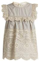 Zimmermann Meridian striped broderie-anglaise cotton top