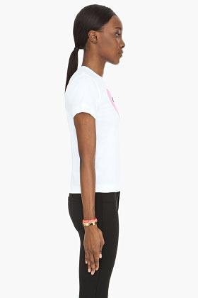 Comme des Garcons White Pink Emblem T-Shirt
