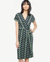Ann Taylor Petite Verbena Short Dolman Sleeve Wrap Dress
