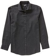 Murano Wardrobe Essentials Ultimate Modern Comfort Stretch Long-Sleeve Spread-Collar Textured Sportshirt