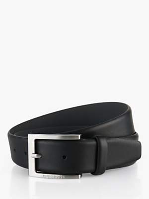 HUGO BOSS Brondon Leather Belt, Black