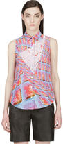 Peter Pilotto Pink Silk Graphic Print Blouse