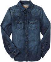 Scotch & Soda Kids Slim Fit Western Shirt (Kid) - Indigo Blue-4