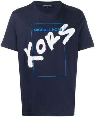 Michael Kors crew neck sprayed logo T-shirt