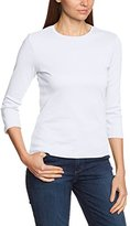 Eddie Bauer Women's 929415 Plain Crew Neck 3/4 Sleeve T-Shirt