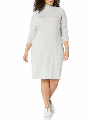 Daily Ritual Amazon Brand Women's Plus Size Long-Sleeve Turtleneck Dress 1X