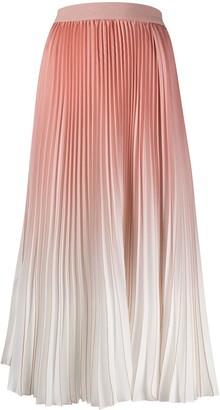 Agnona Pleated Midi Skirt